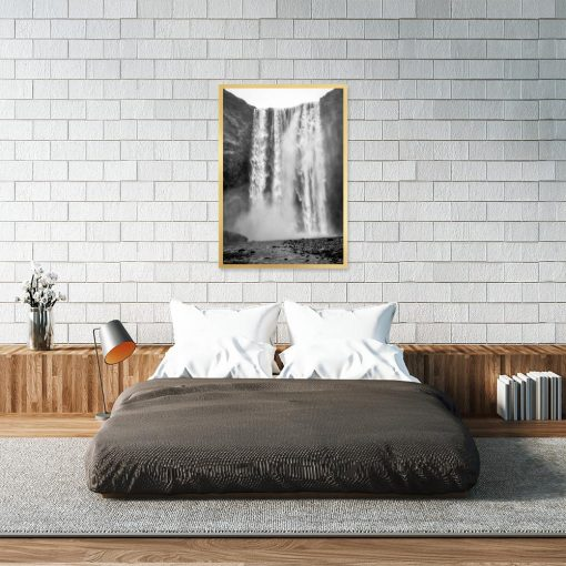 plakat motywem wodospadu do sypialni