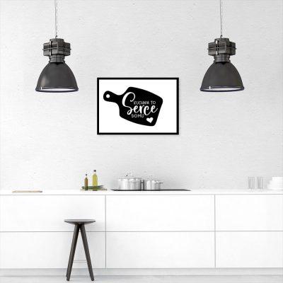 plakat z wyjątkowym napisem kuchnia to serce domu