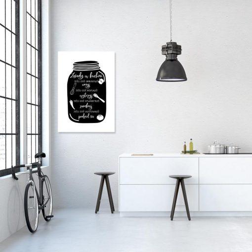 plakat przedstawiający zasady do kuchni