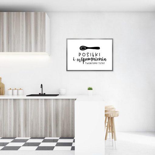 plakat przedstawiający napis na ścianę do kuchni