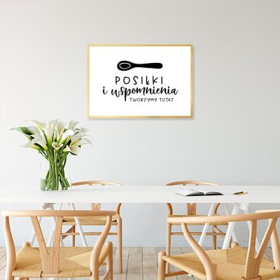plakat z motywem napisu do kuchni
