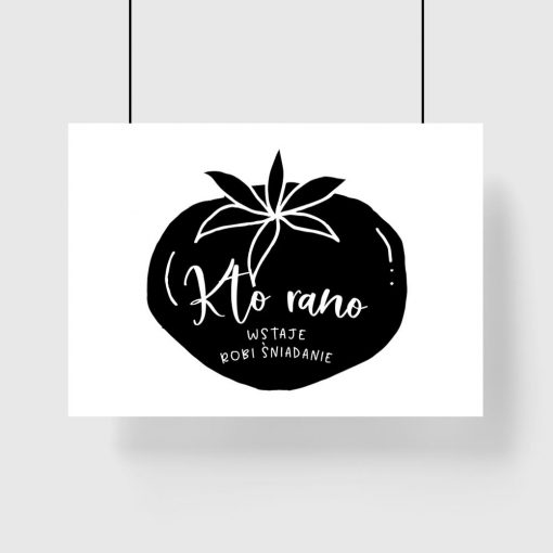 plakat z motywem pomidora