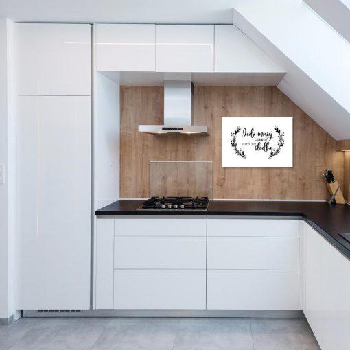 plakat z gałązkami do kuchni