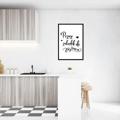plakat z motywem sentencji do kuchni