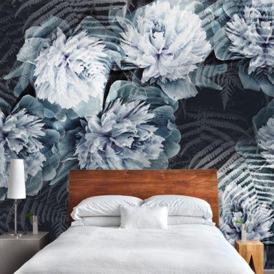 fototapeta botaniczna na ścianę do sypialni