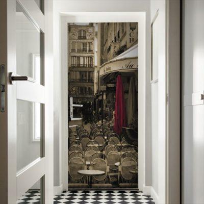 naklejka na drzwi paryż