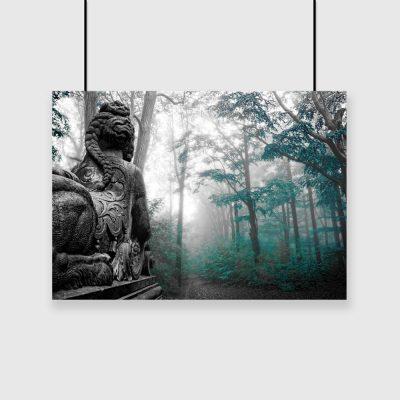 plakat turkusowy las