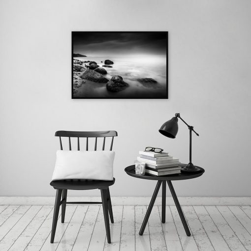 plakat z krajobrazem morza