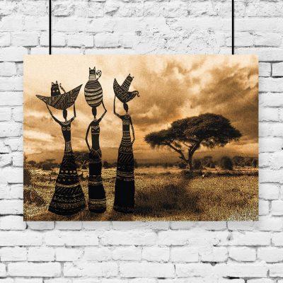 plakat z motywem afrykanek