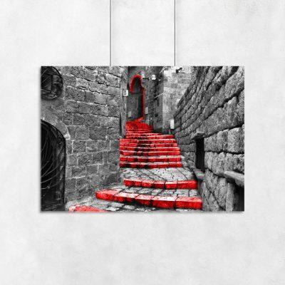 plakat kamienne schody