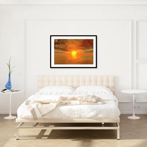 plakat w kolorze pomarańczowym