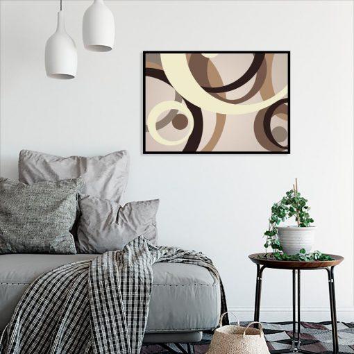 plakat z motywem abstrakcji