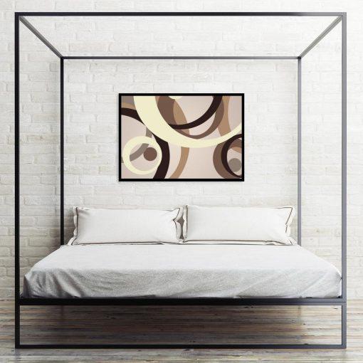 plakat abstrakcja brązowa