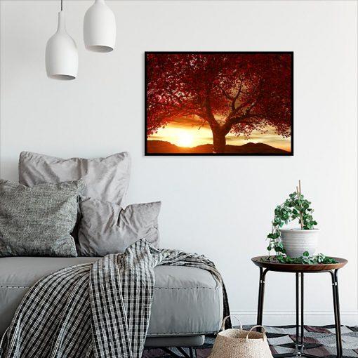 plakat czerwone drzewko