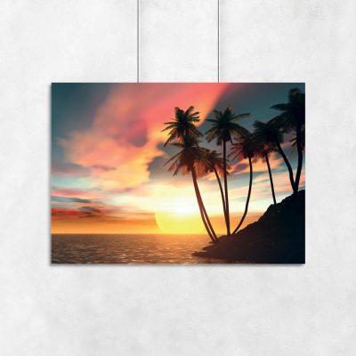 plakat tropikalna wyspa