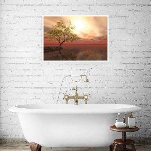 plakat woda i drzewo