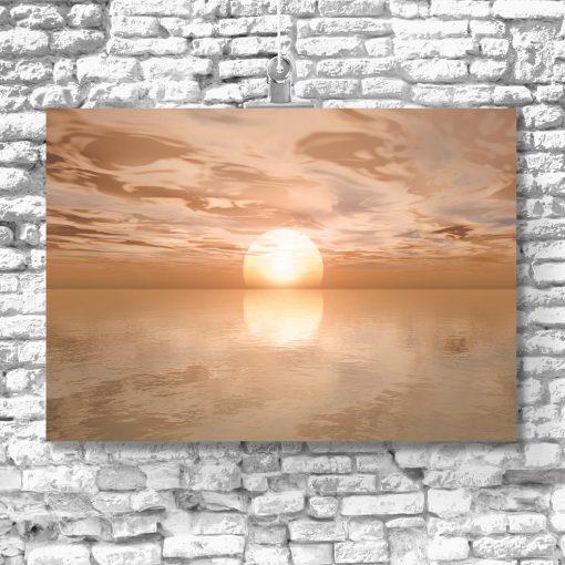 plakat zachód słońca i morze