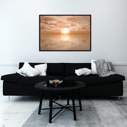 plakat pomarańczowy krajobraz