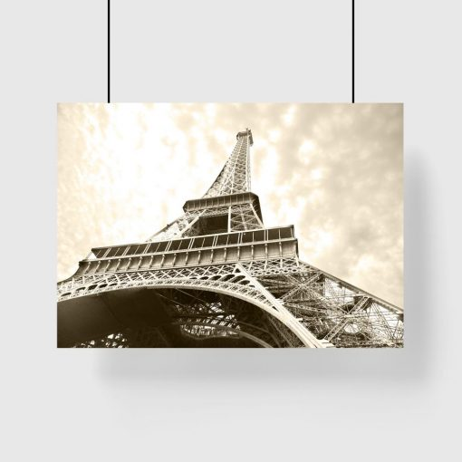 plakat z motywem wieży eiffla