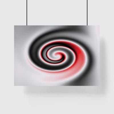 czarno-czerwony plakat na ścianę