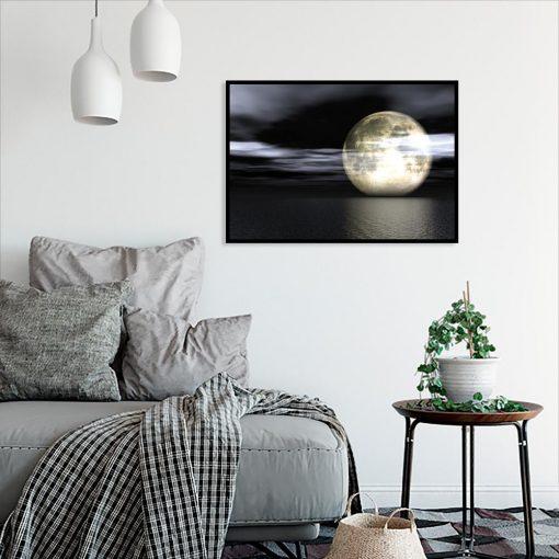 plakat księżyc i ocean