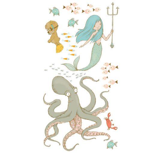 naklejka z motywem morskich stworzeń dla dzieci