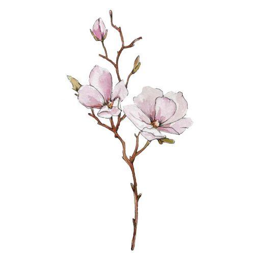 naklejka z motywem różowego kwiatka dla dzieci
