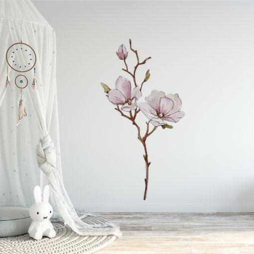 naklejka dla dziecka z kwiatkiem