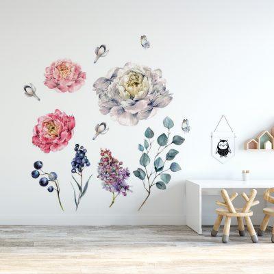 naklejka z botanicznym wzorem do pokoju dziecka