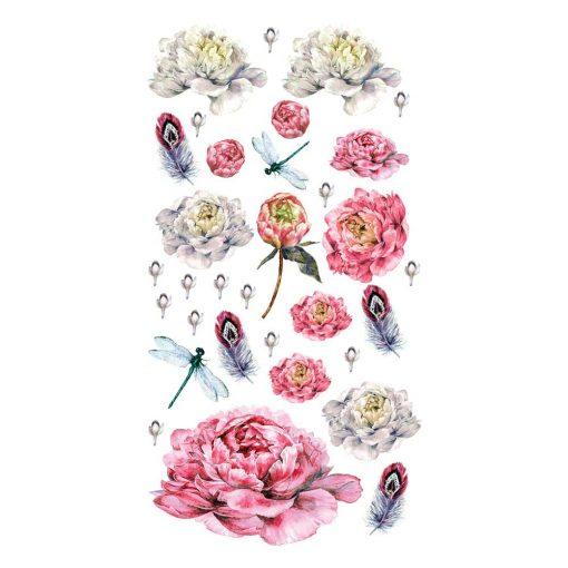 naklejka z kolorową kompozycją z kwiatów do pokoju dziecka