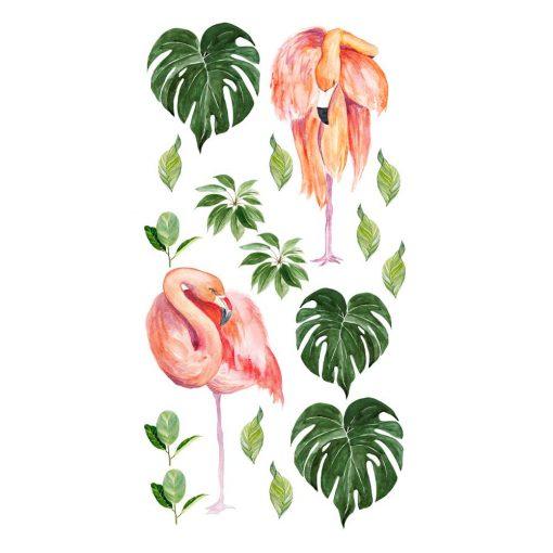 naklejka z flamingami na ścianę do pokoju dziecka