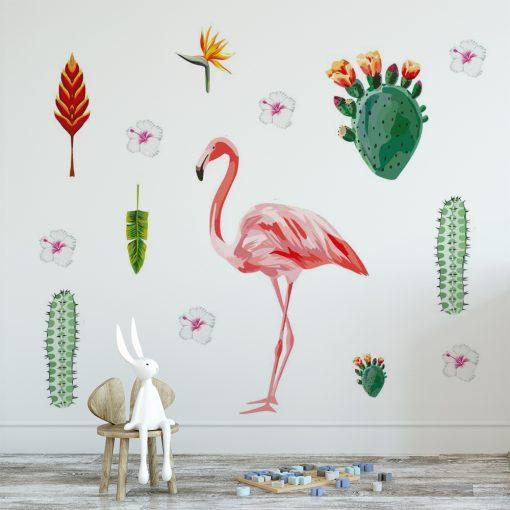 naklejka na ścianę pokoju dziecka z kaktusami