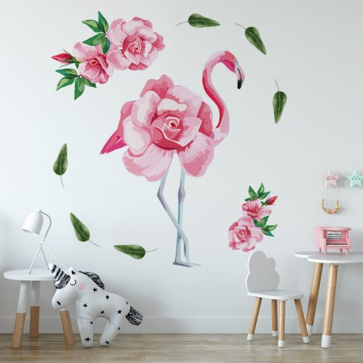 naklejka z flamingiem do pokoju dziecka