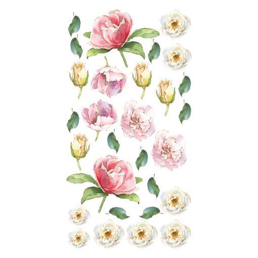 naklejka z motywem kwiatów do pokoju dziecka