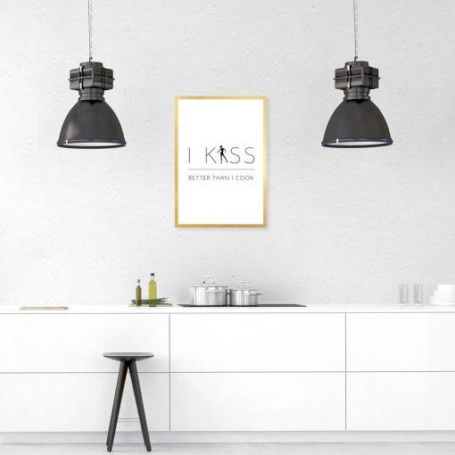 minimalistyczny plakat do kuchni