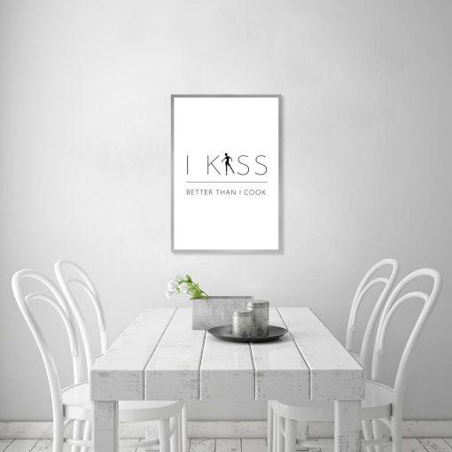 plakat i kiss better than i cook