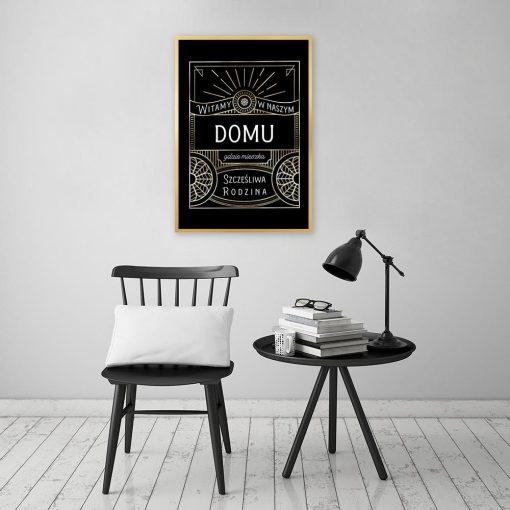 czarny plakat z ornamentami