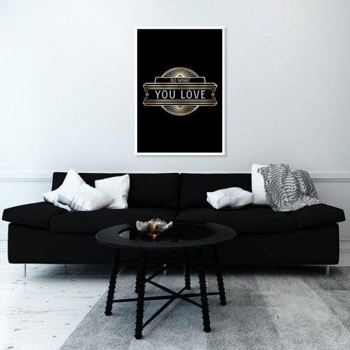 plakat w kolorze czarnym
