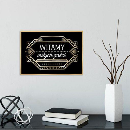 plakat ornamenty i napis