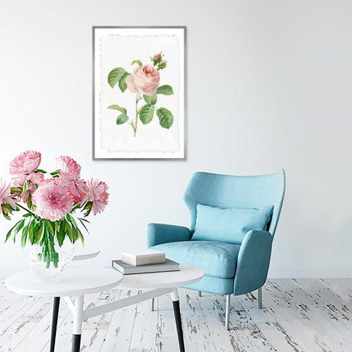 plakat z różowym motywem