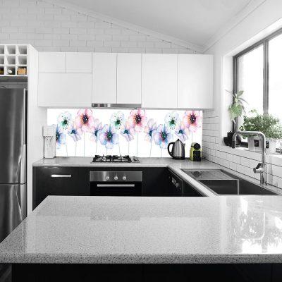 fototapeta do kuchni przedstawiająca kwiaty