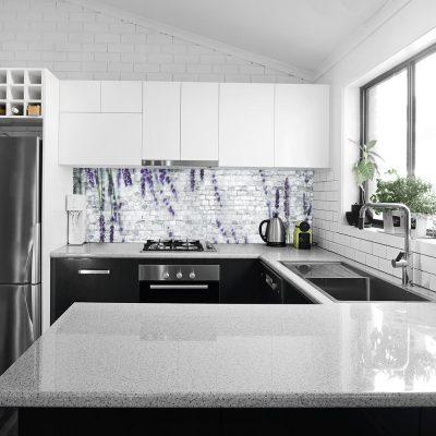 fototapeta do kuchni z imitacją cegły