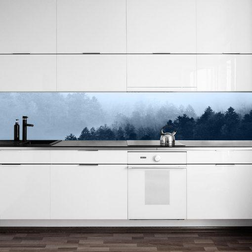 fototapeta z motywem lasu do kuchni