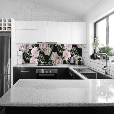 fototapeta do kuchni z motywem kwiatów