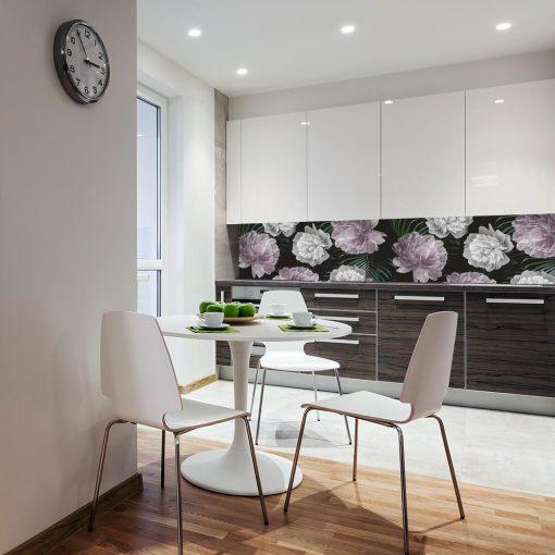 fototapeta z motywem kwiatów do kuchni