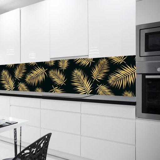 fototapeta z liśćmi palmy do kuchni