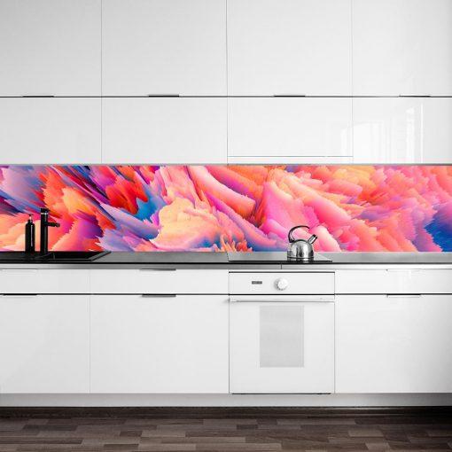 fototapeta do kuchni z kolorową abstrakcją