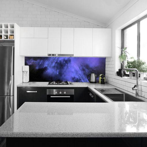 fototapeta z fioletowym wzorem do kuchni