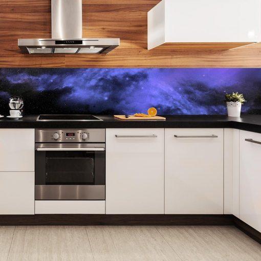 fototapeta kuchenna z motywem kosmosu