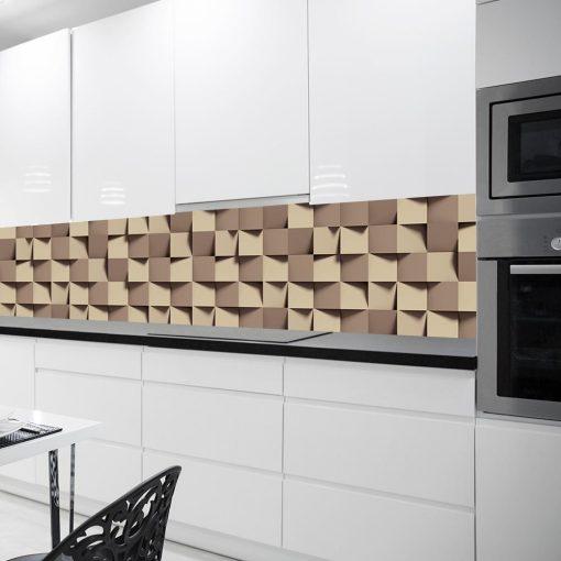 fototapeta z motywem geometrycznym do kuchni